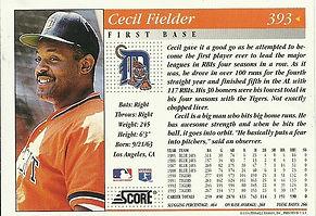 Score Cecil Fielder