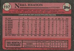 Topps Neal Heaton