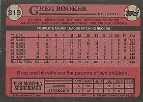 Topps Greg Booker