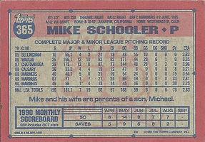 Topps Mike Schooler