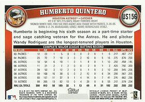Topps Humberto Quintero