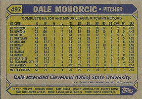 Topps Dale Mohorcic