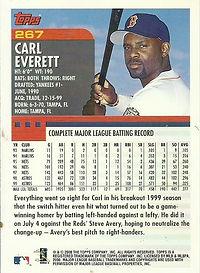 Topps Carl Everett