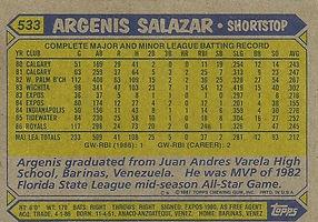 Topps Argenis Salazar