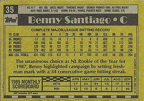 Topps Benny Santiago