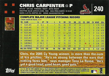 Topps Chris Carpenter