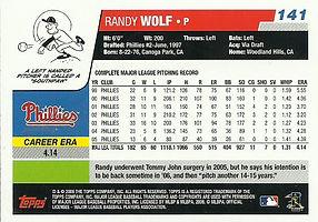 Topps Randy Wolf