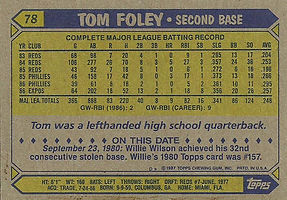 Topps Tom Foley