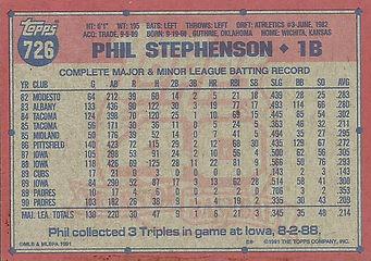 Topps Phil Stephenson