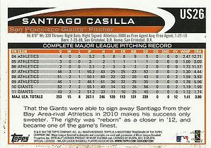 Topps Santiago Casilla