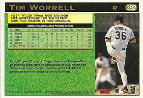 Topps Tim Worrell