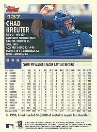 Topps Chad Kreuter