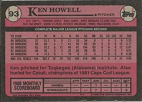 Topps Ken Howell