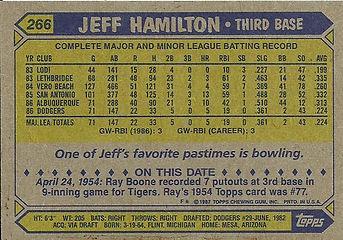 Topps Jeff Hamilton