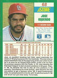 Score Jose Oquendo