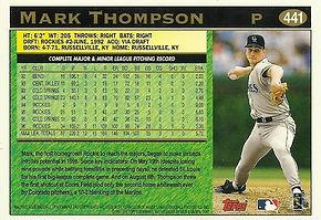 Topps Mark Thompson