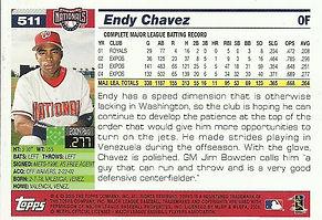 Topps Endy Chavez