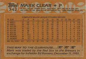 Topps Mark Clear