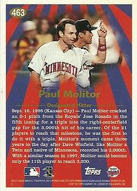 Topps Paul Molitor