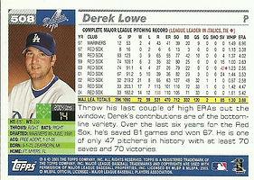 Topps Derek Lowe
