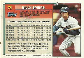 Topps Billy Spiers