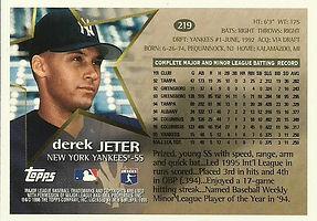 Topps Derek Jeter