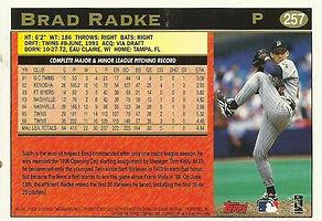 Topps Brad Radke