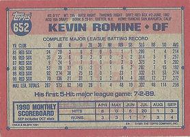 Topps Kevin Romine