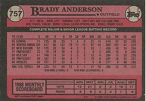 Topps Brady Anderson
