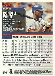 Topps Rondell White