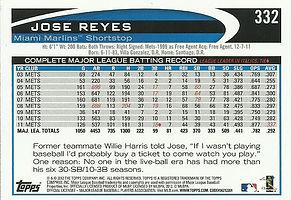 Topps Jose Reyes