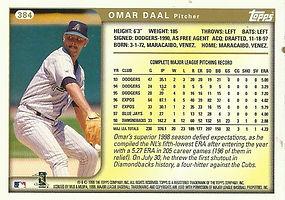 Topps Omar Daal