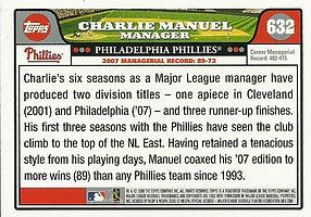 Topps Charlie Manuel