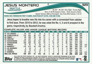 Topps Jesus Montero