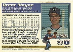 Topps Brent Mayne