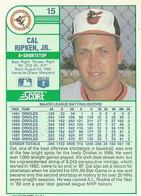 Score Cal Ripken Jr.