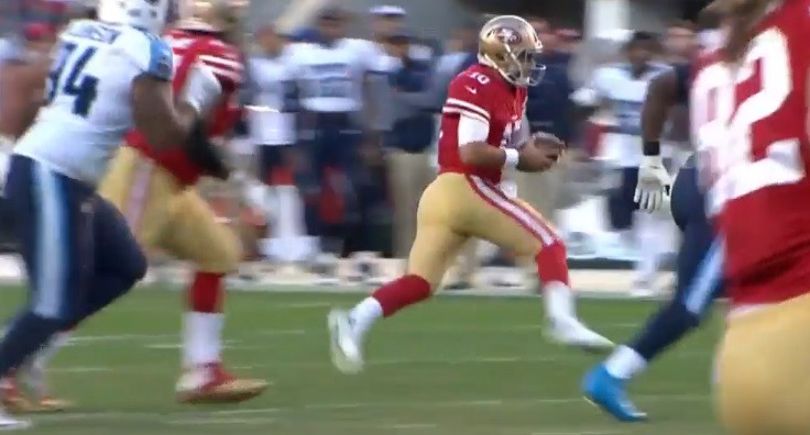11. Garoppolo Finds The Open Man