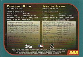 Topps Dominic Rich Aaron Herr