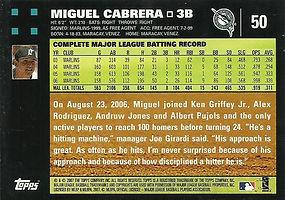 Topps Miguel Cabrera