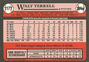 Topps Walt Terrell