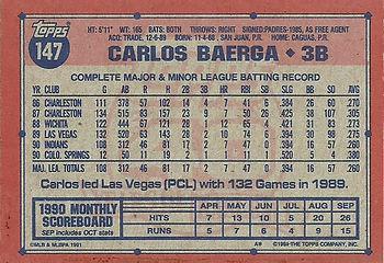 Topps Carlos Baerga