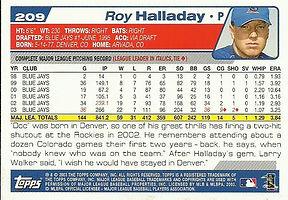 Topps Roy Halladay