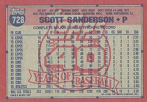 Topps Scott Sanderson