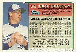 Topps Todd Stottlemyre