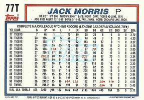 Topps Jack Morris