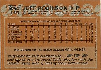Topps Jeff Robinson