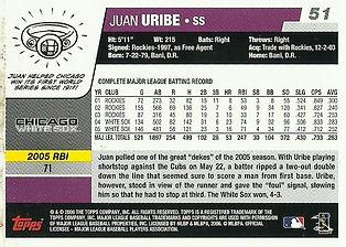 Topps Juan Uribe