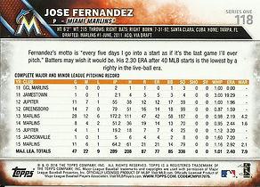 Topps Jose Fernandez