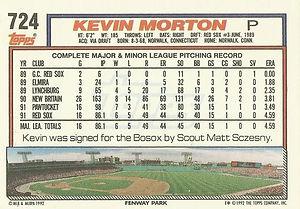 Topps Kevin Morton