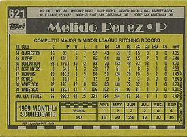 Topps Melido Perez